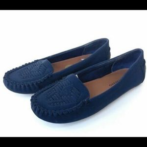 Lucky Brand Aninah Blue Moccasin Loafer Flat Shoe